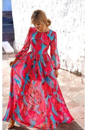 Sukienka EMO Linda turkusowa
