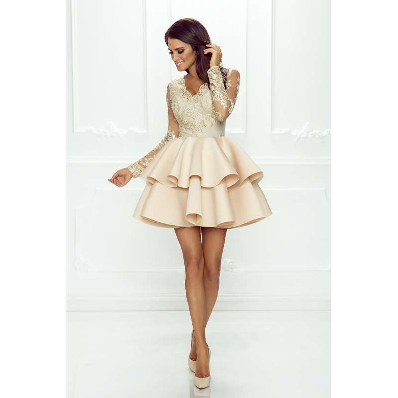 d9a8980f27 sukienka-lili-emo-krotka-koronkowa-z-falbana-weselna-modna-elegancka