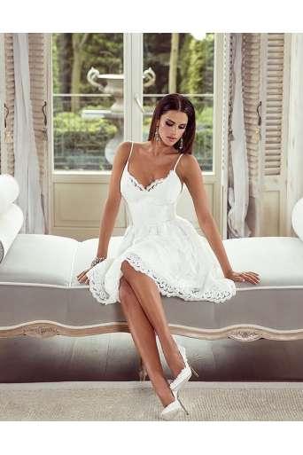 Sukienka EMO VIKTORIA biała