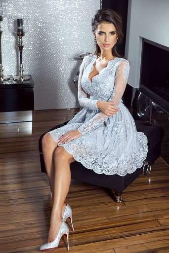 Sukienka EMO AMELIA szara