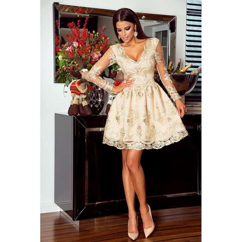 1b0ffcb0dc sukienka-amelia-emo-krotka-koronkowa-z-rekawami-dopasowana-elegancka