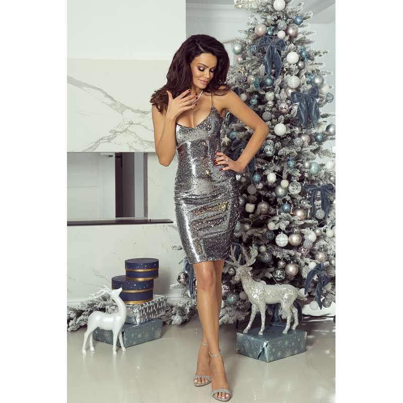 06f2deb7b7 Sukienka EMO Sinsay. Piękna cekinowa krótka sukienka na cienkich ...
