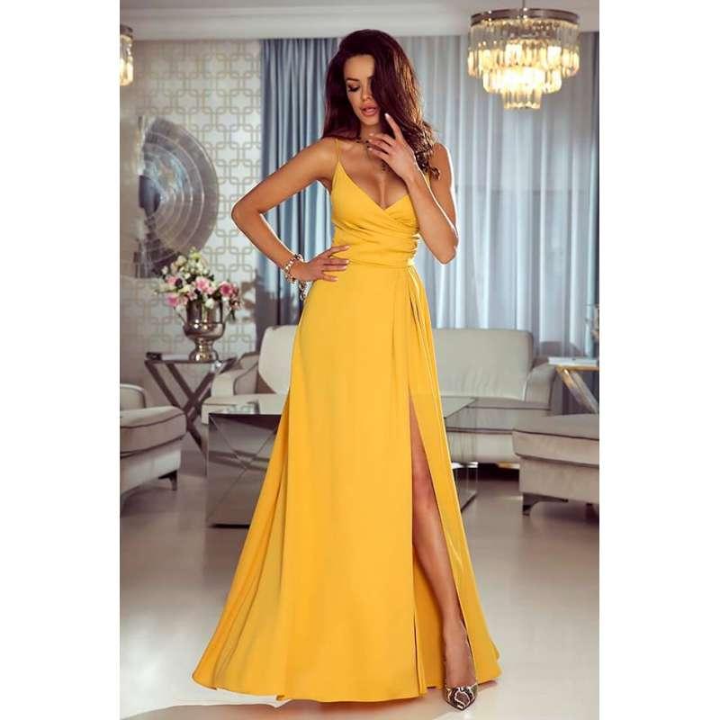 Sukienka EMO Lisa piękna na ramiączka z rozcięciem.