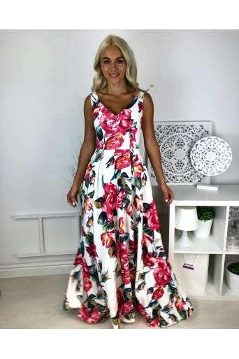 Sukienka EMO Klaudia w kwiaty