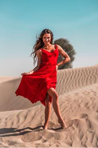 Sukienka EMO  Megan czerwona