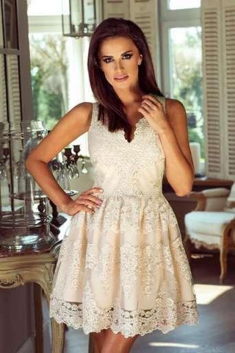 Sukienka EMO CARMEN beż/złota