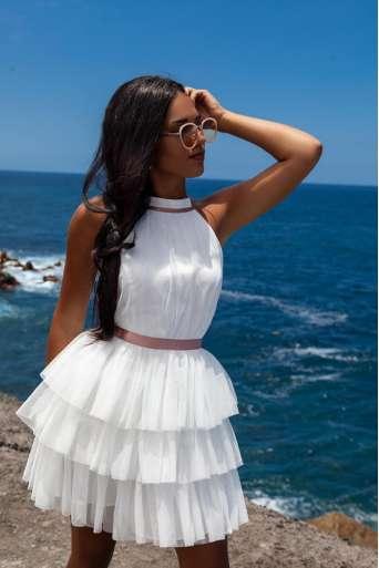 Sukienka EMO Nadia biała