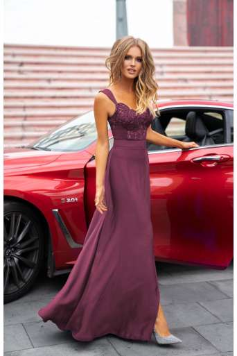 Sukienka EMO Melani śliwka
