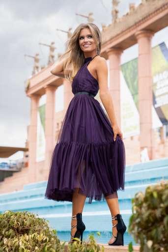 Sukienka EMO LARA śliwka